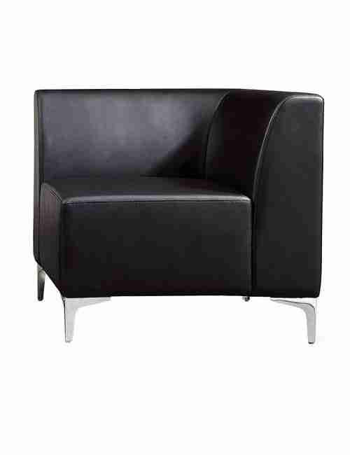 Black Modular Sofa Corner Section