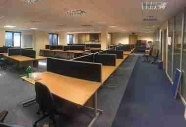 Used Beech 1400mm Office Desks