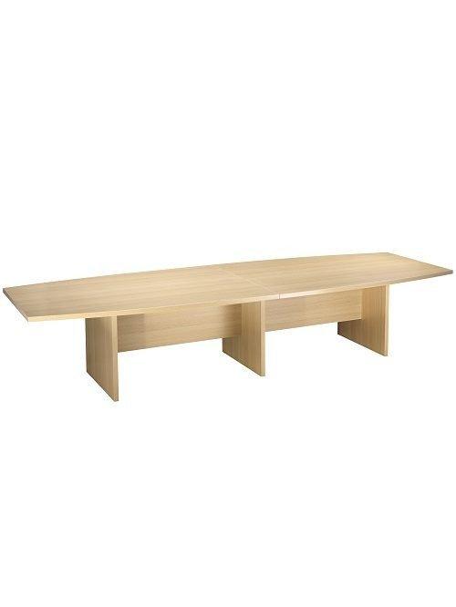 4000mm Slab End Boardroom Table - Light Oak
