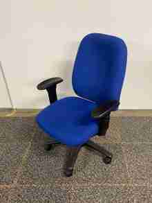 Used Blue VIsta Ergonomic Operator Chair