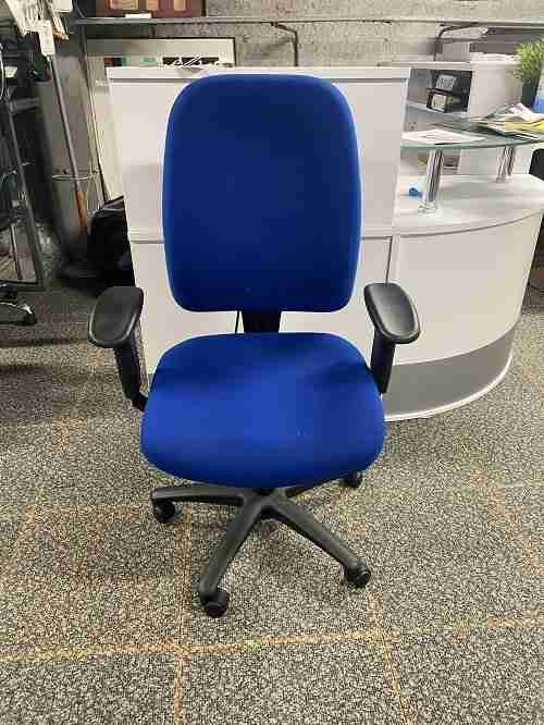 Used Vista Ergonomic Office Chair - Royal Blue