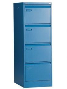 Go Mainline 4 Drawer Filing Cabinet - Blue