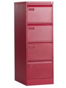 Go Mainline 4 Drawer Filing Cabinet - Red