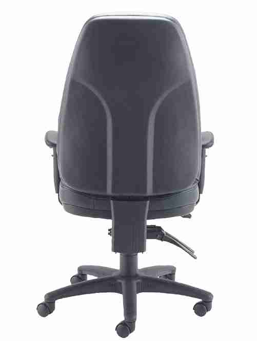 Panther Leather Ergonomic Office Chair - Black