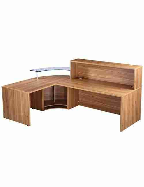 Classic Reception Desk - Black American Walnut Back
